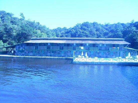 Amazon Geo Jungle Lodge : Vista da chegada ao hotel