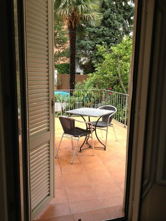 Albergo Stella Hotel: Balcony - pool is ahead