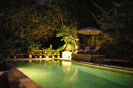 LadyBamboo Villa : POOL BY NITE