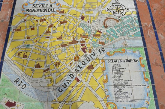 Plaza de Espana Map Picture of Plaza de Espana Seville TripAdvisor
