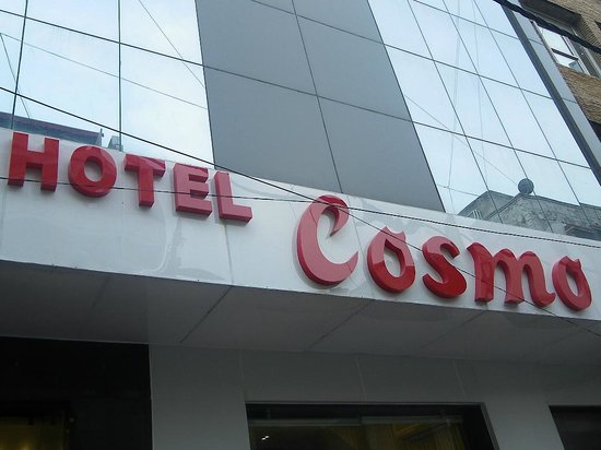 Hotel Cosmo: out side view of hotel