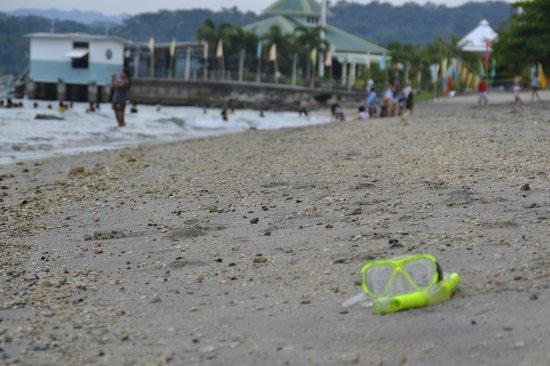 Camayan Beach Resort and Hotel : Coarse Sand