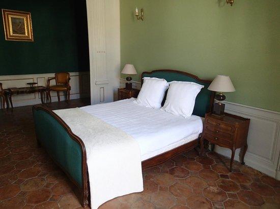 Hôtel Côté Cour : camera verde (minor metratura, letto standard)