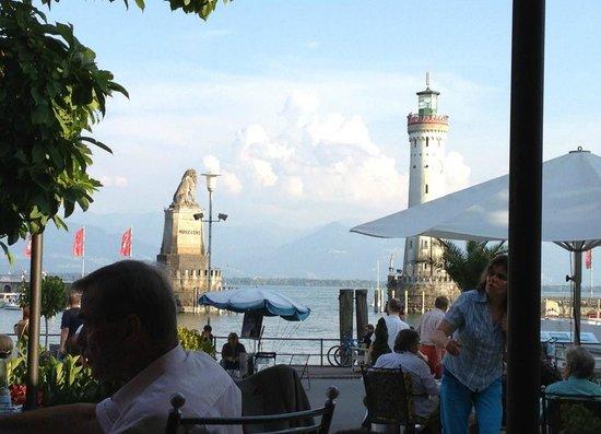 Hotel Reutemann und Seegarten: Blick von der Terasse auf den Hafen