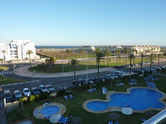 Apartamentos Pierre & Vacances Roquetas de Mar: Vue mer du 4è etg