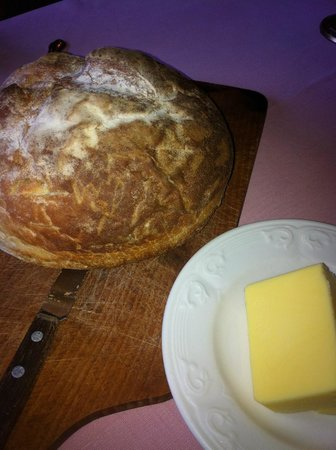 La Chouette: The hot freshly baked bread. ALl consumed