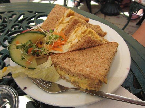 Belinda's Tearooms: Coronation chicken sandwich