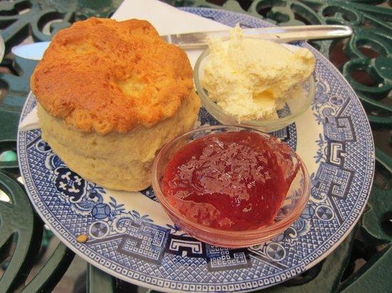 Belinda's Tearooms: Scone with cream and jam