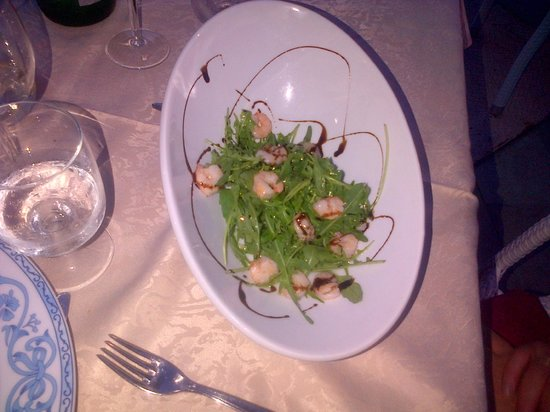 Villa Bianca: insalata rucola e gamberi