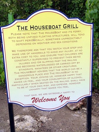 The Houseboat Grill : Welcome