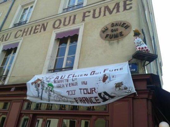Au Chien Qui Fume: Le Chien qui fume fête le Tour de France