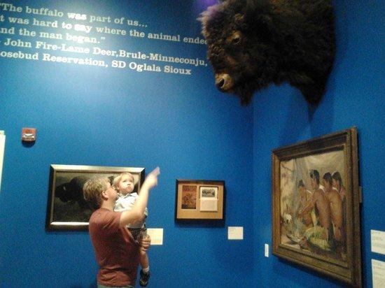 The Rockwell Museum: Stuffed buffalo head