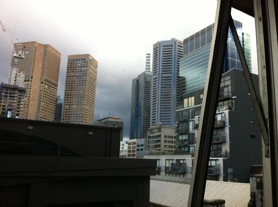 City Limits Serviced Apartments : view out window (which opens)