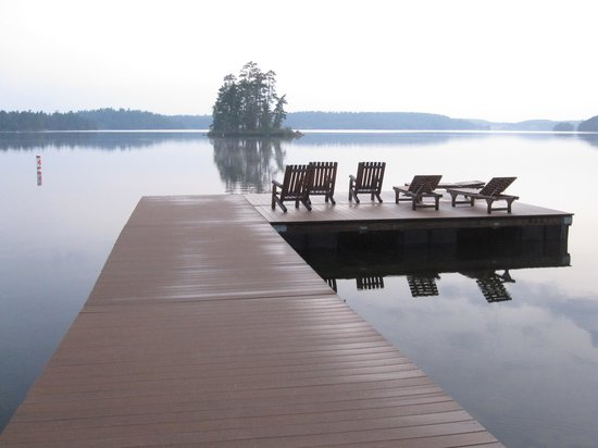 Burntside Lodge: Swim Dock