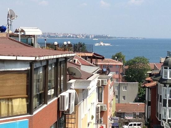 Defne Bar and Restaurant: La vue de la terrasse