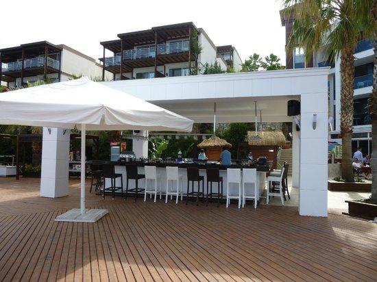 Delta Beach Resort: bar piscine