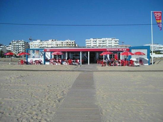 Hel-Bar: Vista da praia