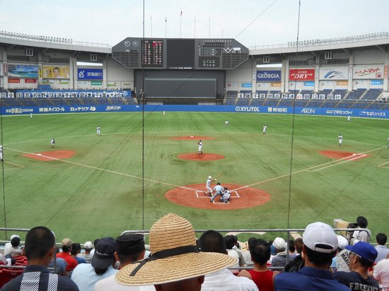 Chiba Marine Stadium: バックネット裏から