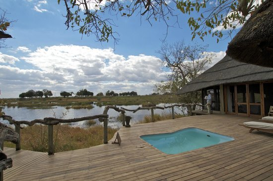 Wilderness Safaris Kings Pool Camp: View from the deck at Room #1