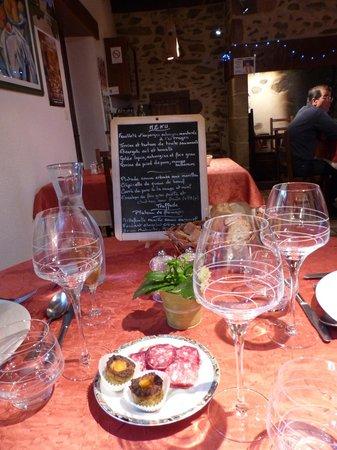 Ferme Auberge du Bruel: La carte du restaurant