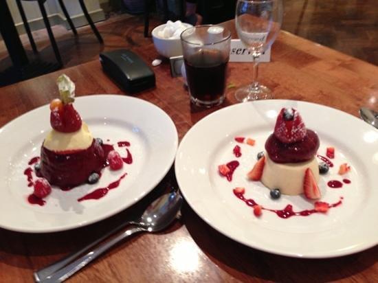 Graze: Summers Pudding & Peach & Vanilla Pannacotta