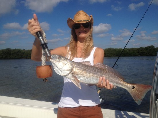 Shallow Point Charters: Women like to catch big Red Fish Too!