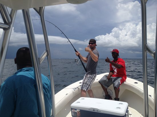 Shallow Point Charters: This is what it looks like hooked into a Tarpon!