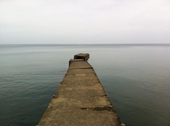Fair Haven State Park Campground: Old dock east of beach