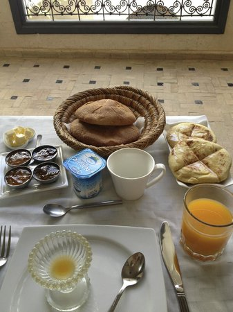 Riad Papillon: breakfast