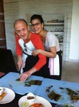 COMO Uma Ubud: ME AND RICHARD AT OUR COOKERY CLASS