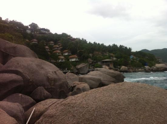 Koh Tao Hillside: view on resort from Sea
