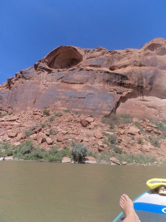Canyon Voyages Adventure Co - Day Tours : Awesome views from the river - massive cave!