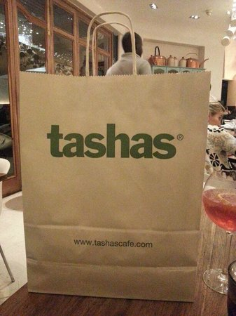 Tasha's: Take away bag