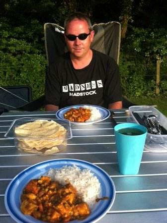 Rushcroft Farm Caravan & Camping Park: Curry cooked at the tent