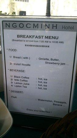 Ngoc Minh Hotel: Breakfast