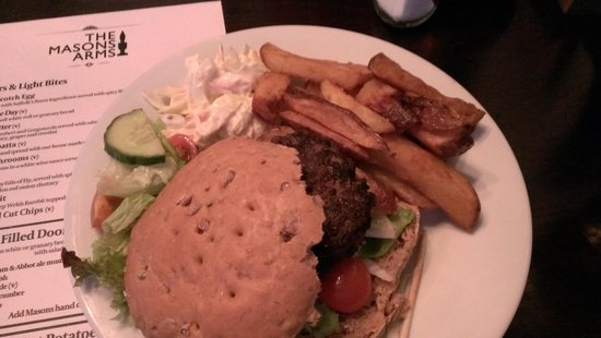 The Masons Arms: Burger & Chips