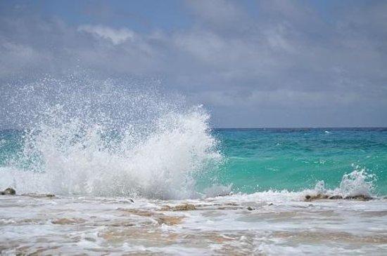 Stella Maris Resort Club: Breaking waves