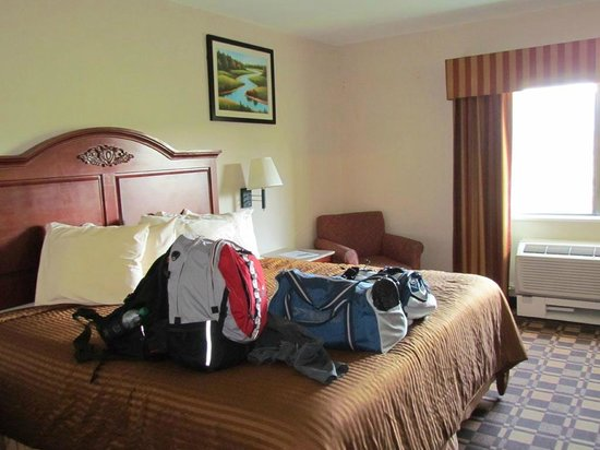 BEST WESTERN White Mountain Inn: Lit king (chambre 228)