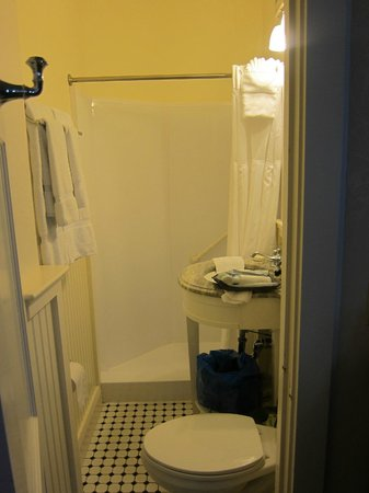 Hawthorne Hotel: Bathroom in Suite, extremely small