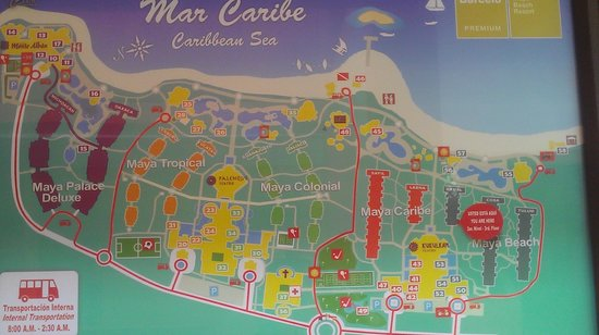 Hotel Barcelo Maya Beach: Map of MEGA property