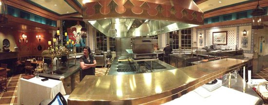 Inn at Little Washington: Panorama of the kitchen
