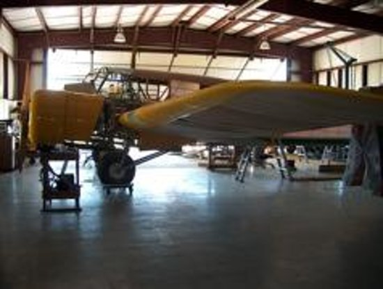 BC Aviation Museum: Restoration area: Avro Anson trainer being worked on