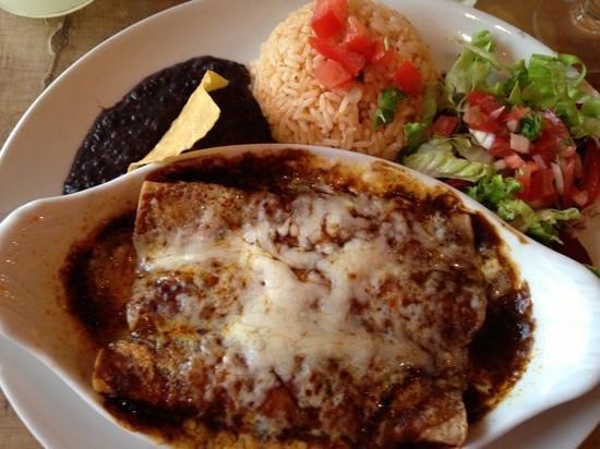 Fajitas : enchiladas with mole sauce