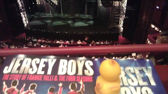 Jersey Boys London : we took our Apex city of London hotel duck with us x