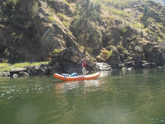 Orange Torpedo Rafting Trips: Standing on the water