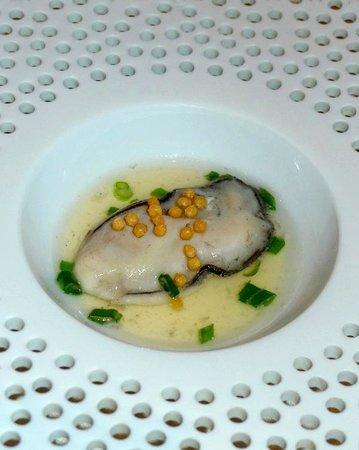 Restaurant Guy Savoy: huîtres en nage glacées
