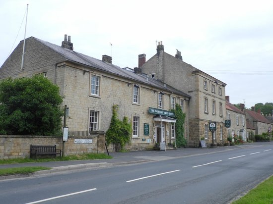 The Worsley Arms Hotel : The quiet road outside the hotel