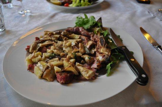 Osteria Di Meati: Tagliata with fresh porcini mushrooms