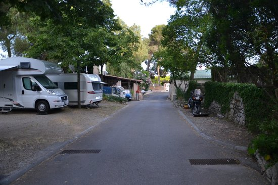 Les Mûres : Road in the camp