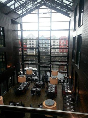 Scandic Bakklandet: dining room from balcony